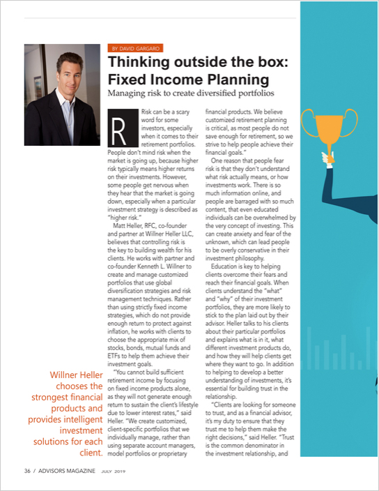 Thinking outside the box: Fixed Income Planning